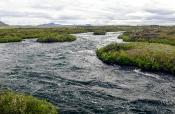 Abfluss des Mývatnsees
