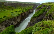 Schlucht des Flusses Hvítá unterhalb der Gulfoss-Wasserfälle