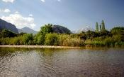 Fluß-Mündung bei Olympos